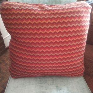 Vintage Throw Pillow Chevron Pattern